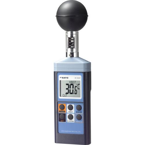 【佐藤計量器】 SATO 熱中症暑さ指数計 SK-150GT 最高最低無線温湿度計付
