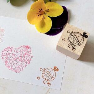 リボンちゃんの横顔スタンプ ゴム印 ハンコ ハート 可愛い リボンちゃん かょのこ バレットジャーナル ノート メモ