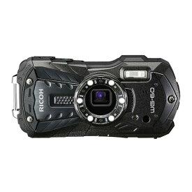 デジタルカメラ 防水カメラ WG-60 RICOH リコー 本格防水14m 耐衝撃1.6m 防塵 耐寒 1600万画素 光学5倍 フルHD動画 ブラック WG-60BK ◆宅