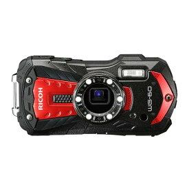 デジタルカメラ 防水カメラ WG-60 RICOH リコー 本格防水14m 耐衝撃1.6m 防塵 耐寒 1600万画素 光学5倍 フルHD動画 レッド WG-60RD ◆宅