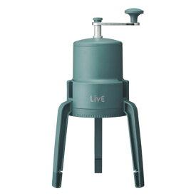 氷かき器 かちわり手動かき氷器 LivE ドウシシャ 刃の高さ調整 コンパクト設計 折りたたみ式 製氷カップ 収納袋付 グリーン IS-D-20GR ◆宅