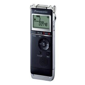 ICレコーダー リニアPCM対応 Panasonic パナソニック 8GB内蔵メモリー+外部マイクロSD USB端子搭載 乾電池式 ブラック RR-XS370-K ◆宅
