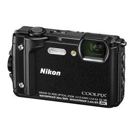 デジタルカメラ 防水カメラ COOLPIX W300 Nikon ニコン 防水30m 耐衝撃性能 1605万画素 光学5倍 4K動画撮影 ブラック COOLPIXW300BK ◆宅