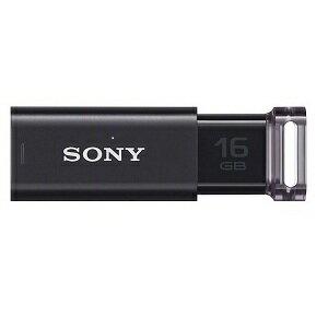 ◇ 【16GB】 SONY ソニー USB3.1 Gen1 USBフラッシュメモリ Micro Vault Click ノックスライド式 ブラック 海外リテール USM16GU/B2 ◆メ