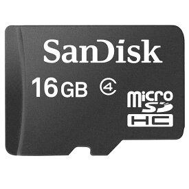 16GB microSDHCカード マイクロSD SanDisk サンディスク CLASS4 海外リテール SDSDQM-016G-B35 ◆メ