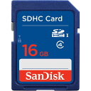 16GB SDHCカード SDカード SanDisk サンディスク CLASS4 海外リテール SDSDB-016G-B35 ◆メ