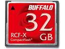 32GB コンパクトフラッシュ CFカード BUFFALO バッファロー RCF-Xシリーズ 低消費電力仕様 RCF-X32G ◆メ