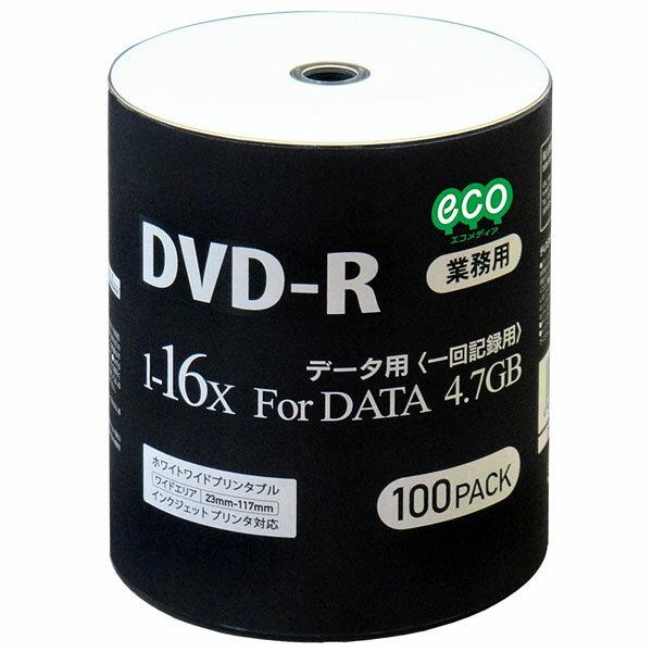 DVD-R メディア HI-DISC ハイディスク データ用 16倍速 100枚 業務用 インクジェット ワイドプリント DR47JNP100_BULK ◆宅