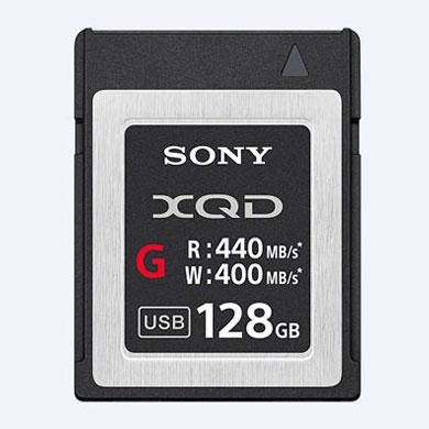 128GB XQDメモリーカード XQDカード SDカード SONY ソニー Gシリーズ R:440MB/s W:400MB/s 海外リテール QD-G128E/J ◆メ