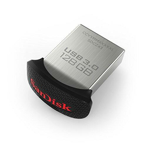 128GB USBメモリー SanDisk サンディスク 親指サイズの小型設計 Ultra Fit USB3.0 150MB/s 海外リテール SDCZ43-128G-GAM46 ◆メ