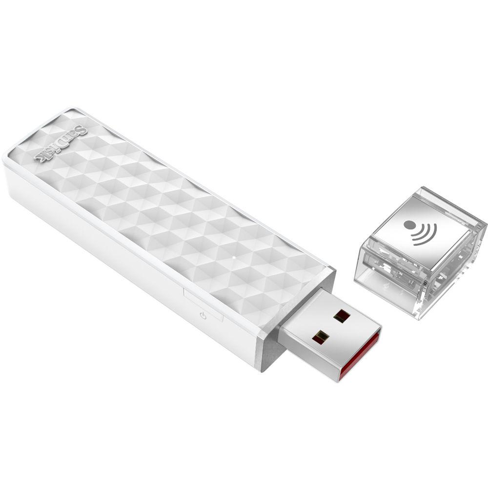 200GB USBメモリー 無線LAN内蔵 SanDisk サンディスク CONNECT Wireless Stick iOS/Android対応 ホワイト 海外リテール SDWS4-200G-P46 ◆メ