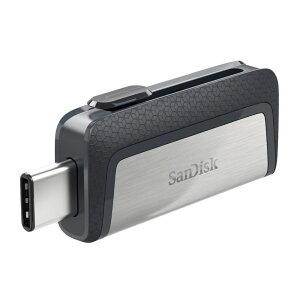 ◇【128GB】SanDiskサンディスクUSBメモリーUSB3.1対応Type-C&Type-Aデュアルコネクタ搭載R:150MB/s海外リテールSDDDC2-128G-G46◆メ