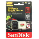 ◇ 【32GB】 SanDisk サンディスク Extreme microSDHCカード UHS-1 U3対応 R:90MB/s Ultra HD 4K録画対応...