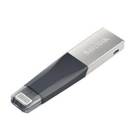 64GB USBメモリー SanDisk サンディスク iXpand Mini フラッシュドライブ Lightningコネクタ USB3.0 海外リテール SDIX40N-064G-GN6NN ◆メ