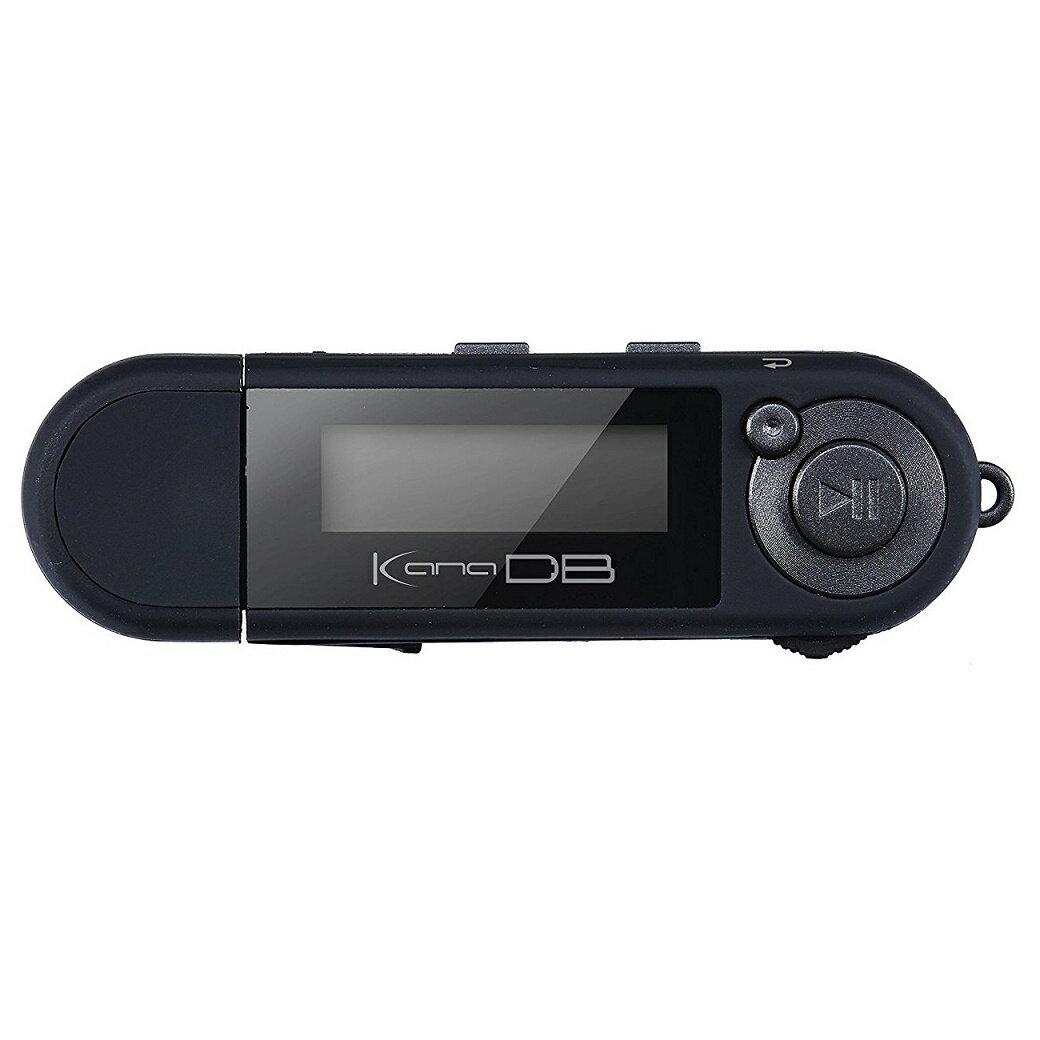 デジタルオーディオプレーヤー グリーンハウス 乾電池 8GB内蔵 充電いらず!単4x1本で約20時間! ブラック GH-KANADB8-BK ◆宅