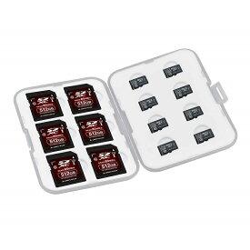 カードケース グリーンハウス SD / microSD用 14枚収納(SDカード6枚+microSDカード8枚) シリコン製トレー入 GH-CA-SD14W ◆メ