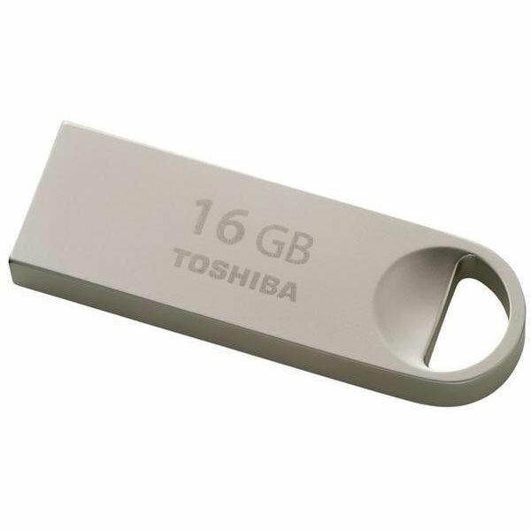 ◇ 【16GB】 TOSHIBA 東芝 USBフラッシュメモリ TransMemory USB2.0対応 薄型 メタルボディ 海外リテール THN-U401S0160A4 ◆メ