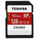 ◇ 【128GB】 TOSHIBA 東芝 EXCERIA SDXCカード Class10 UHS-I U3対応 R:90MB/s 海外リテール THN-N302...