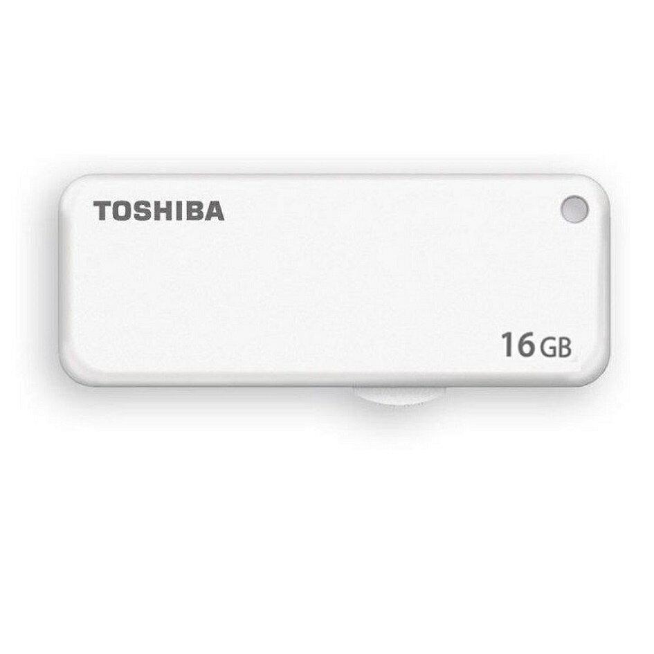 ◇ 【16GB】 TOSHIBA 東芝 USBメモリー TransMemory USB2.0 スライド式 ホワイト 海外リテール THN-U203W0160A4 ◆メ