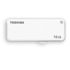 16GB USBメモリー TOSHIBA 東芝 TransMemory USB2.0 スライド式 ホワイト 海外リテール THN-U203W0160A4 ◆メ