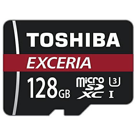 ◇【128GB】 TOSHIBA 東芝 EXCERIA microSDXCカード CLASS10 UHS-I U3 R:90MB/s 海外リテール THN-M302R1280C4 ◆メ