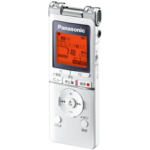 ICレコーダー Panasonic パナソニック 会議や講義の録音、語学学習やカラオケ・楽器演奏にも ワイドFM 4GB ホワイト RR-XS460-W ◆宅