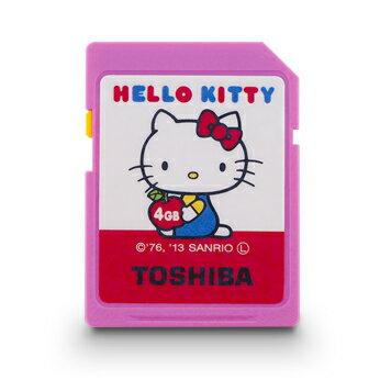◇【4GB】 TOSHIBA 東芝×サンリオ SDHCカード HELLO KITTY ハローキティシリーズ Class4 数量限定品 SD-H04GKT ◆メ