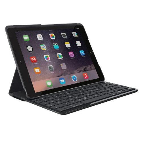 ◇ Logicool ロジクール Bluetooth対応 キーボード 一体型ケース iPad(第5世代 2017年リリース)用 78キー英語レイアウト ブラック IK1052BK ◆宅