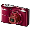 ◇ Nikon ニコン デジタルカメラ COOLPIX L32 2005万画素 光学5倍 レッド COOLPIXL32RD ◆宅