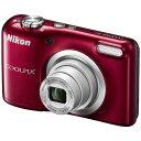 コンパクトデジタルカメラ COOLPIX A10 Nikon ニコン 1614万画素 光学5倍ズーム 単3形電池式 レッド COOLPIXA10RD ◆宅