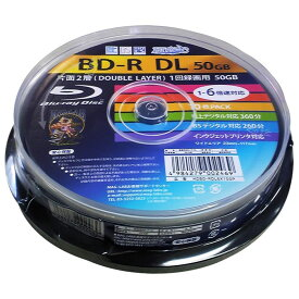 BD-R DL メディア HI-DISC ハイディスク 録画用 50GB 6倍速 10枚スピンドル ホワイトプリンタブル HDBD-RDL6X10SP ◆宅