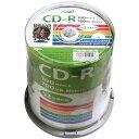 ◇ HI-DISC ハイディスク データ用CD-R 52倍速 700MB 100枚スピンドル ワイドプリンタブル HDCR80GP100 ◆宅