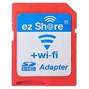 ◇ 【microSDHCカードを簡単Wi-Fi接続】 ezShare Wi-Fi microSDアダプター Class10 4GB-32GB対応 ES-WiFiSD-ADP ◆メ
