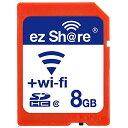 ◇【8GB】 ezShare Wi-Fi機能搭載SDHCカード Class10 Android/ iOS両対応 海外リテール Wi-FiSD-8G ◆メ