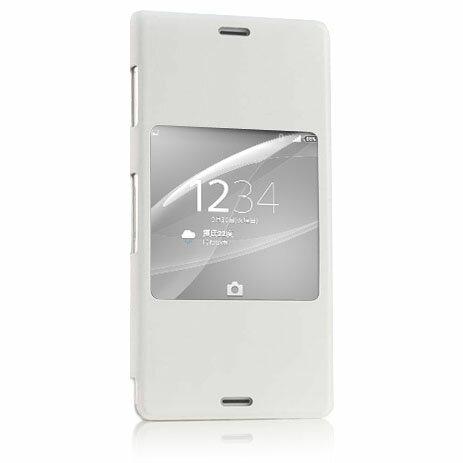 ◇ スマホカバー Xperia Z3 SONY ソニー ウィンドウ付きフリップ/ブックレットスタイル保護カバー Style Up Cover for Sony Xperia Z3 ホワイト 並行輸入品 SCR24(WH) ◆宅