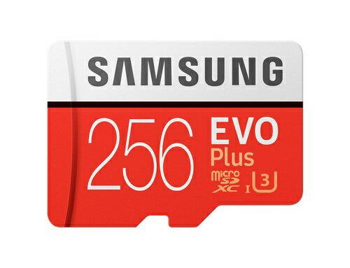 256GB microSDXCカード マイクロSD Samsung サムスン EVO Plus CLASS10 UHS-1 U3 R:100MB/s W:90MB/s 4K 海外リテール MB-MC256G/CN ◆メ