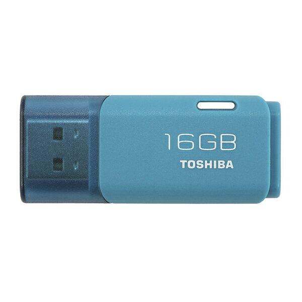 16GB USBメモリー TOSHIBA 東芝 TransMemory U202 USB2.0 キャップ式 アクアブルー 海外リテール THN-U202L0160E4 ◆メ