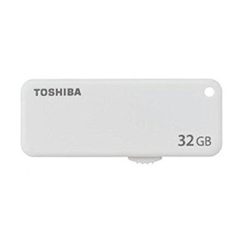 ◇ 32GB USBメモリー TOSHIBA 東芝 TransMemory U203 USB2.0 スライド式 ホワイト 海外リテール THN-U203W0320E4 ◆メ
