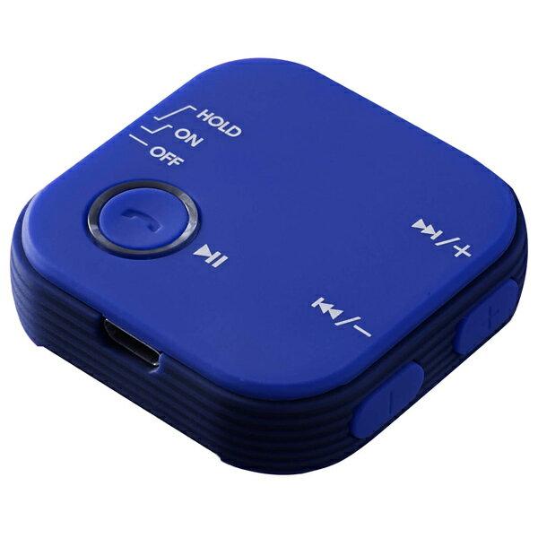 Bluetoothオーディオレシーバー グリーンハウス スマホの音楽や通話をワイヤレスに! マイク搭載 クリップ付 ブルー GH-BHRB-BL ◆宅