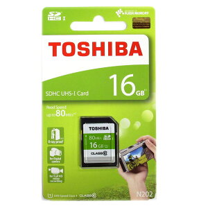 ◇【16GB】TOSHIBA東芝EXCERIASDHCカードClass10UHS-IU1対応R:80MB/s海外リテールTHN-N202N0160A4◆