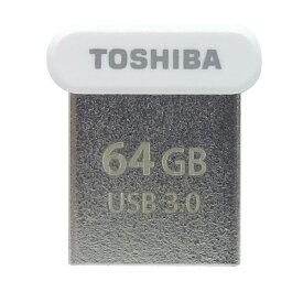64GB USBメモリー TOSHIBA 東芝 USBメモリー USB3.0 TransMemory R:120MB/s 超小型サイズ 海外リテール THN-U364W0640A4 ◆メ