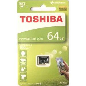 64GB microSDXCカード マイクロSD TOSHIBA 東芝 CLASS10 UHS-I R:100MB/s 海外リテール THN-M203K0640A4 ◆メ