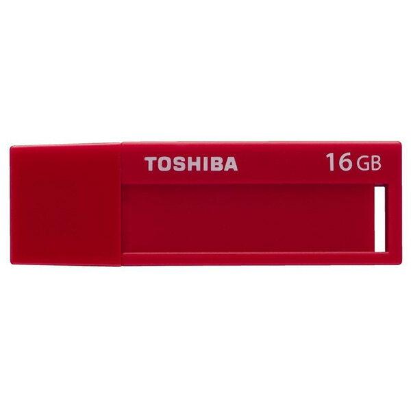 16GB USBメモリー TOSHIBA 東芝 TransMemory USB3.0 キャップ式 レッド バルク THNV16JUDR ◆メ