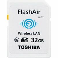 ◇【32GB】 TOSHIBA 東芝 無線LAN搭載SDHCカード FlashAir W-02 Class10 バルク ミニケース入り SD-WC032G-BLK ◆メ