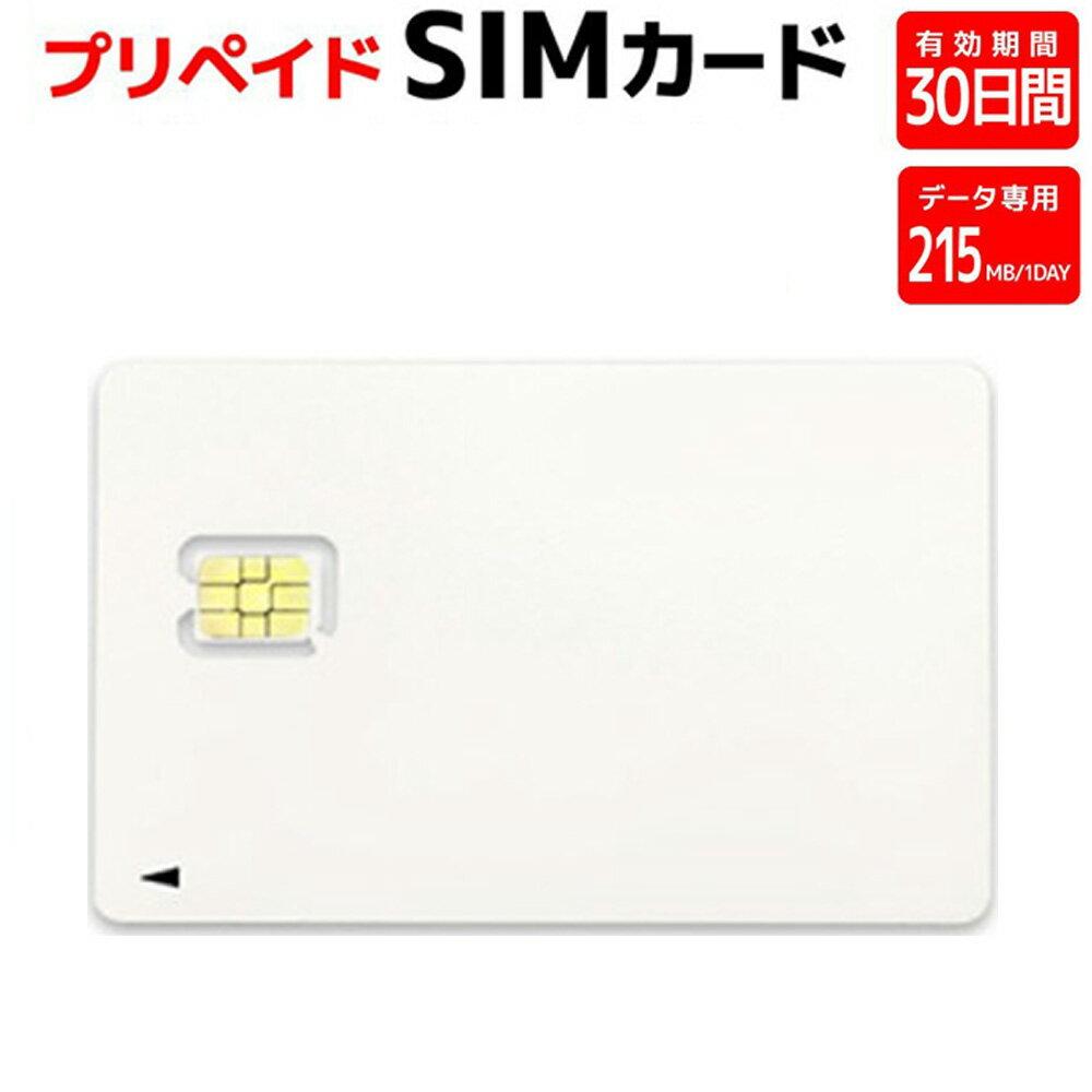 プリペイドSIMカード AJC 全日通 3G/4G LTE データ専用215MB/日 30日間 NanoSIM ドコモ回線(日本国内用) SIM4G-215MB/30DAYS ◆メ