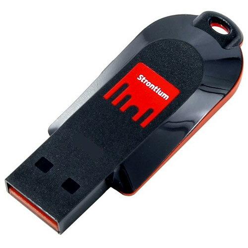 4GB USBメモリー Strontium Pollex USB2.0 ブラック/レッド 海外リテール SR4GRDPOLLEX ◆メ