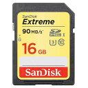 16GB SDHCカード SDカード SanDisk サンディスク Extreme UHS-I U3 R:90MB/s W:40MB/s 海外リテール SDSDXNE-016G-GNC…