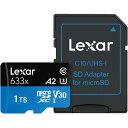 1TB microSDXCカード マイクロSD Lexar レキサー Class10 UHS-1 U3 V30 A2 R:100MB/s W:70MB/s SDアダプタ付 1.0TB 海…