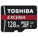 128GB TOSHIBA 東芝 EXCERIA microSDXCカード CLASS10 UHS-I U3 R:90MB/s 海外リテール THN-M302R1280C4 ◆メ