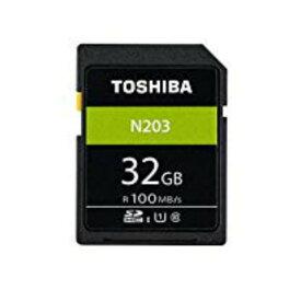 32GB SDHCカード SDカード TOSHIBA 東芝 N203 Class10 UHS-I U1 R:100MB/s 海外リテール THN-N203N0320C4 ◆メ